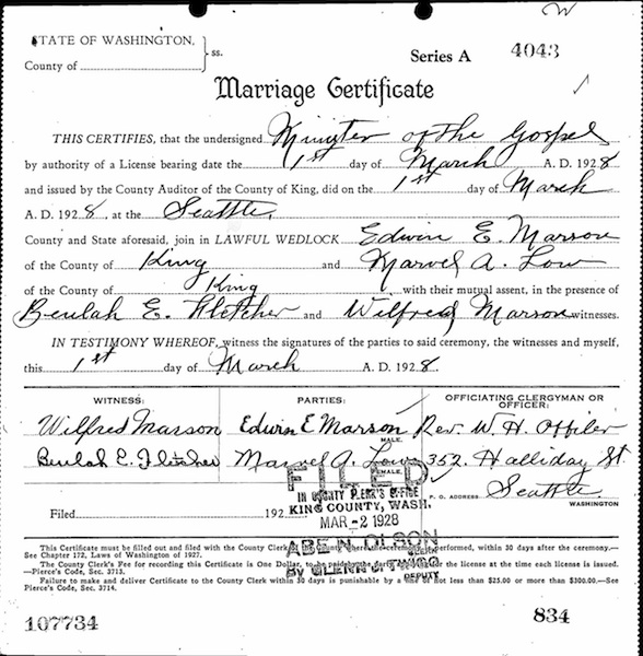 Documents Marriage Certificate